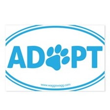 Adopt Blue Postcards (Package of 8)