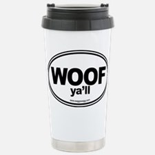WOOF Yall Black Travel Mug
