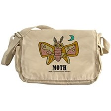 Cartoon Moth by Lorenzo Messenger Bag