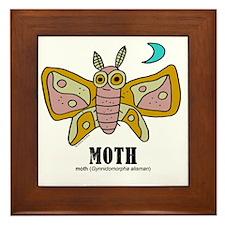 Cartoon Moth by Lorenzo Framed Tile