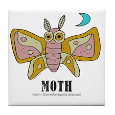 Cartoon Moth by Lorenzo Tile Coaster