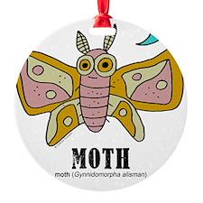 Cartoon Moth by Lorenzo Ornament