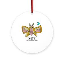 Cartoon Moth by Lorenzo Round Ornament