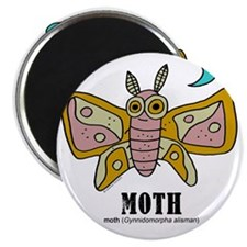 Cartoon Moth by Lorenzo Magnet