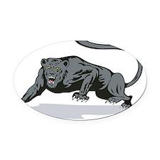 Jaguar Prowling Oval Car Magnet