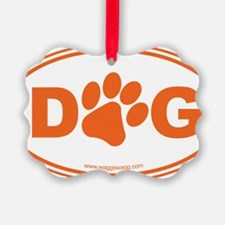Dog Orange Ornament