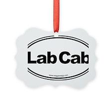Lab Cab Black Ornament
