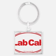 Lab Cab Red Landscape Keychain