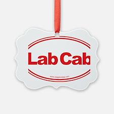 Lab Cab Red Ornament