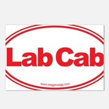 Lab Cab Red Postcards (Package of 8)