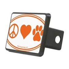 Peace Love Paws Orange Hitch Cover