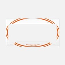 Adopt Orange License Plate Holder
