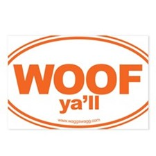 WOOF Yall Orange Postcards (Package of 8)