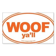 WOOF Yall Orange Decal