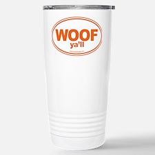 WOOF Yall Orange Travel Mug