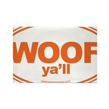WOOF Yall Orange Rectangle Magnet