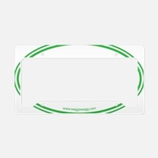 Adopt Green License Plate Holder