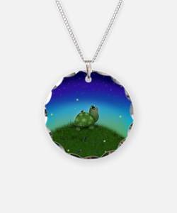 Turtle Moon and Stars Necklace