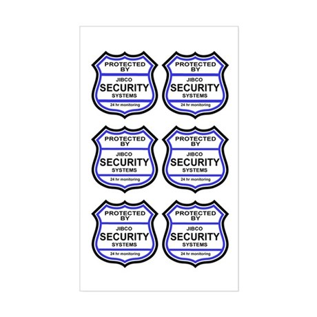 Security Alarm Stickers (Rectangular)