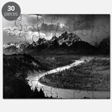 Ansel Adams The Tetons and the Snake River Puzzle
