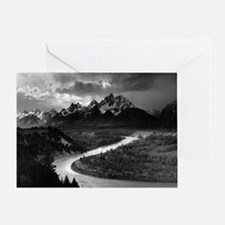 Ansel Adams The Tetons and the Snake Greeting Card