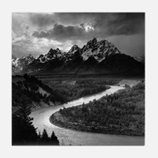 Ansel Adams The Tetons and the Snake  Tile Coaster