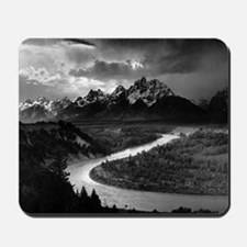 Ansel Adams The Tetons and the Snake Riv Mousepad