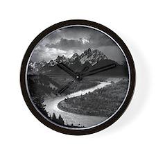 Ansel Adams The Tetons and the Snake Ri Wall Clock