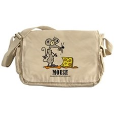 Cartoon Mouse by Lorenzo Messenger Bag