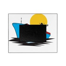 Container Ship Cargo Boat Retro Picture Frame