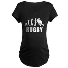 Rugby Tackle Evolution Maternity T-Shirt
