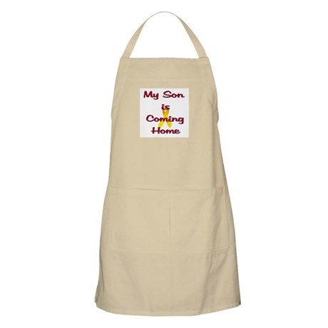 My son is coming home BBQ Apron