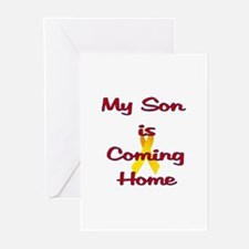 My son is coming home Greeting Cards (Pk of 10