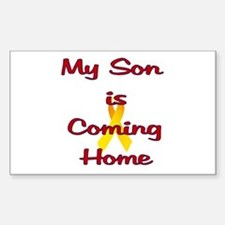 My son is coming home Rectangle Decal