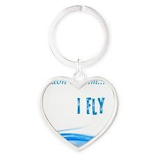 I dont swim... I Fly Heart Keychain