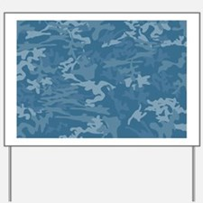 Blue Camouflage Yard Sign