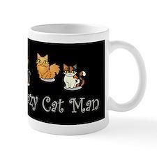 Crazy Cat Man Small Mugs