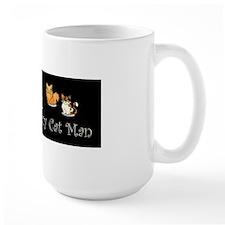 Crazy Cat Man Ceramic Mugs