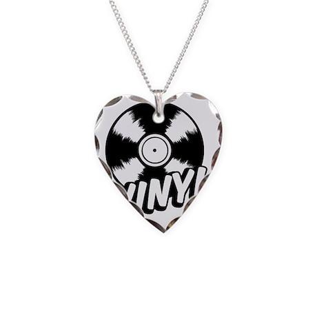 Vinyl Necklace Heart Charm