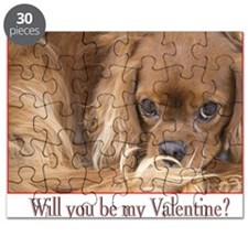 Will you be my Valentine? Spaniel Card Puzzle