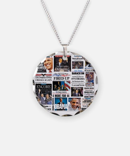 Obama Inauguration Necklace Circle Charm