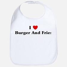I love Burger And Fries Bib