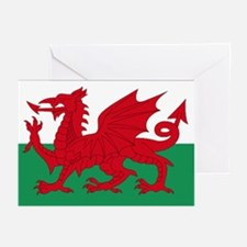 Wales flag decorative Greeting Cards (Pk of 10)