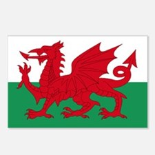 Wales flag decorative Postcards (Package of 8)