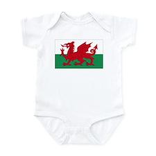Wales flag decorative Infant Bodysuit