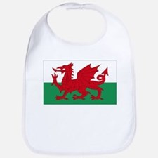Wales flag decorative Bib