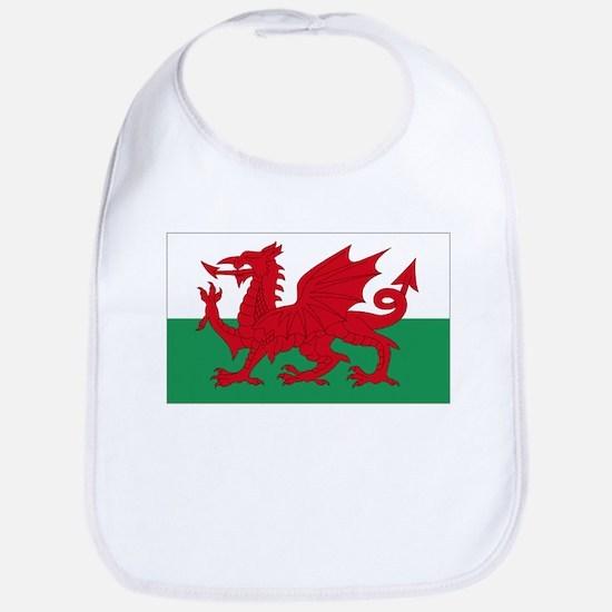 Wales flag decorative Bib