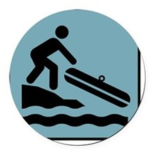 rafting Round Car Magnet