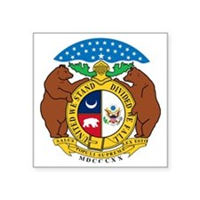 "COA of Missouri Square Sticker 3"" x 3"""