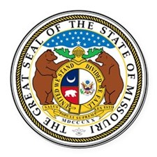 Great Seal of Missouri Round Car Magnet